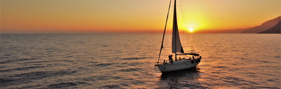 Sunset sailing trip in Sfakia area and in the village of Loutro