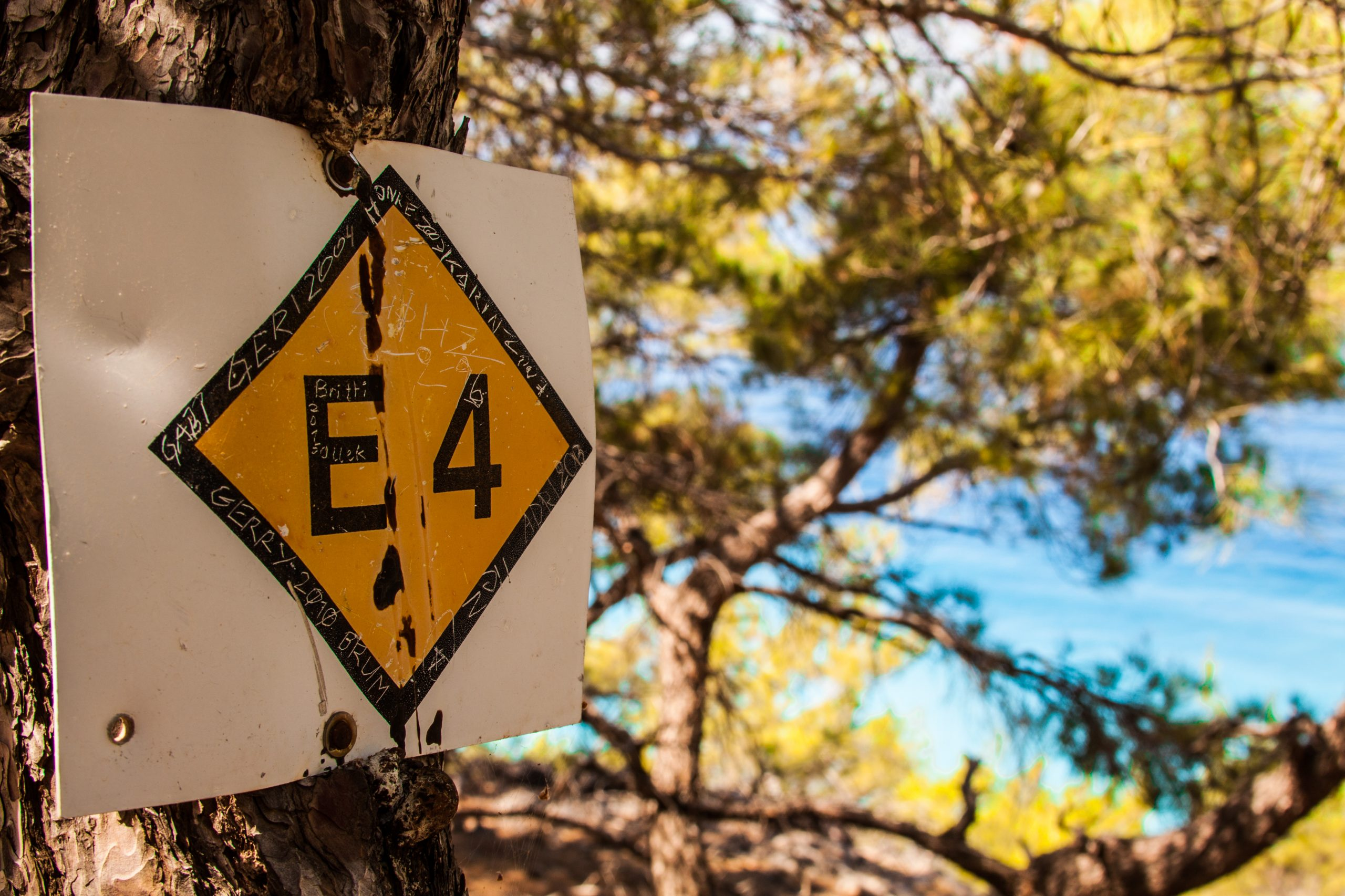 E4 hiking path on the way for sailing